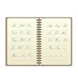 Vintage Notebook vector image