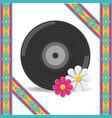 vinyl and flower hippie concept