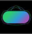 virtual reality headset display stereoscopic vector image