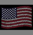 waving usa flag stylization of music notes vector image vector image