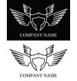 sparta warrior wing logo vector image