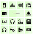 14 stereo icons vector image vector image