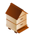 bee house icon isometric style vector image vector image