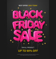 black friday flat poster vector image vector image