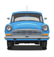 blue vintage car vector image