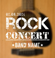 blurred background with acoustic guitar rock vector image vector image