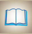 book sign sky blue icon with defected vector image vector image