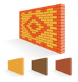 Brick wall set vector image vector image