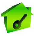 bright house graphics with keyhole vector image