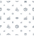 business icons pattern seamless white background vector image vector image