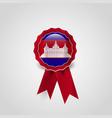 cambodia flag badge design vector image