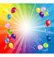 card bright holiday balloons vector image