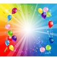 card bright holiday balloons vector image vector image