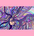 cartoon fantasy colorful beautiful girl vector image vector image