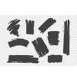chaotic brush strokes set vector image vector image