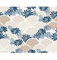 chrisantemum flower traditional kimono pattern vector image vector image