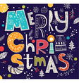 christmas with merry text and other vector image vector image