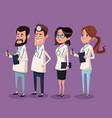 color background hospital medical staff team vector image vector image