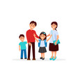 colorful portrait of happy family with mother vector image vector image