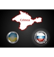 Conceptual view of the situation in Crimea vector image