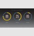 design of countdown timer for coming soon or under vector image vector image
