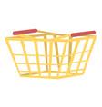 empty shopping basket cartoon vector image vector image