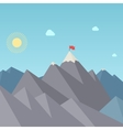 Flag On The Mountain Peak Goal Achievement vector image vector image