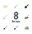 flat icon farm set of spade trowel tool and vector image