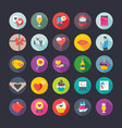 flat icons set of love and valentine vector image vector image