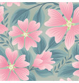 flower seamless summer pattern floral garden tile vector image