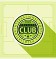 football green badge vector image vector image