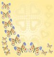 Frame with butterflies parnassius vector image vector image