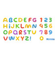 funny plasticine alphabet letters and numbers 3d vector image