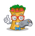 gamer kebab wrap character cartoon vector image vector image