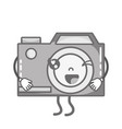 grayscale kawaii cute funny digital camera vector image