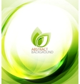 Green eco energy background vector image