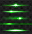 green laser beams pack vector image vector image