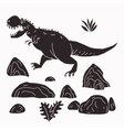 hand drawn jurassic vector image vector image
