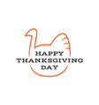 happy thanksgiving day title logo with text vector image
