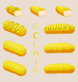 icon logo for cake french eclair vector image