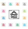 isolated template icon construction vector image vector image