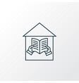 library icon line symbol premium quality isolated vector image vector image