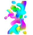 liquid plastic colorful shapes vector image vector image