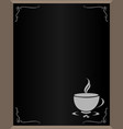 menu with coffee cup with copy space for text vector image