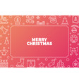 merry christmas cute outline horizontal vector image vector image
