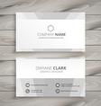 Minimal white business card
