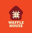 modern professional logo waffle house vector image