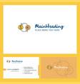 money converstion logo design with tagline front vector image vector image