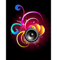 Music speaker design vector image vector image