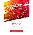 musical flyer Jazz festival Music poster vector image vector image